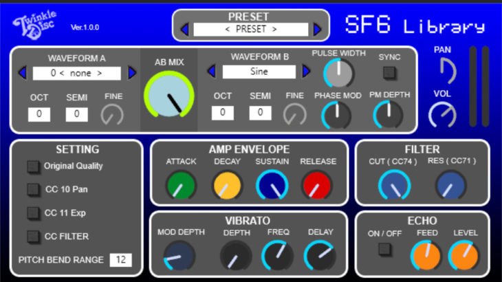 SFC音源『SF6 Library VST AU』